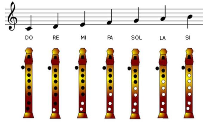 Notas Flauta Aprender Piano